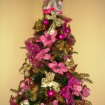 Gold and Pink Christmas Tree
