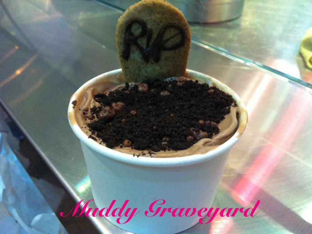 Muddy Graveyard Liquid Nitrogen Ice Cream