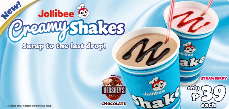 Jollibee Creamy Shakes
