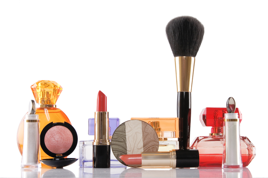 Perfume and make-up, beauty concept