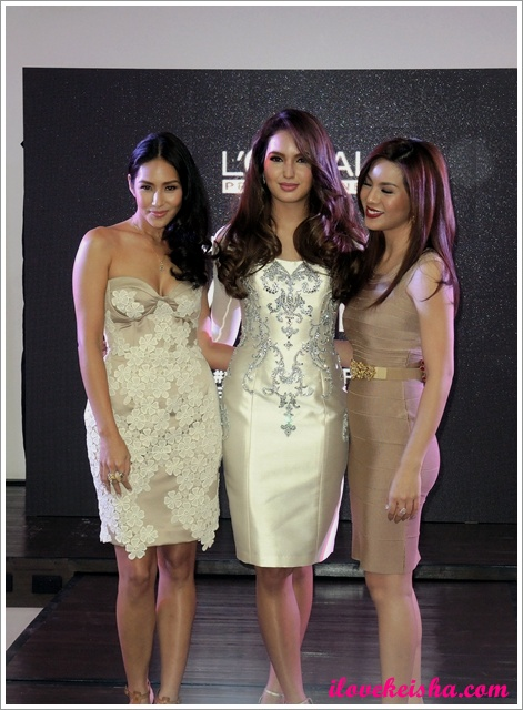 Majirel's Brand Ambassadors: Sarah Lahbati, Mikaela Lagdameo Martinez, Luanne Dy