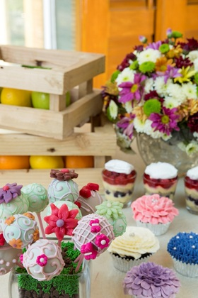 RHO RCafe - Mom's Country Garden Luncheon, Desserts