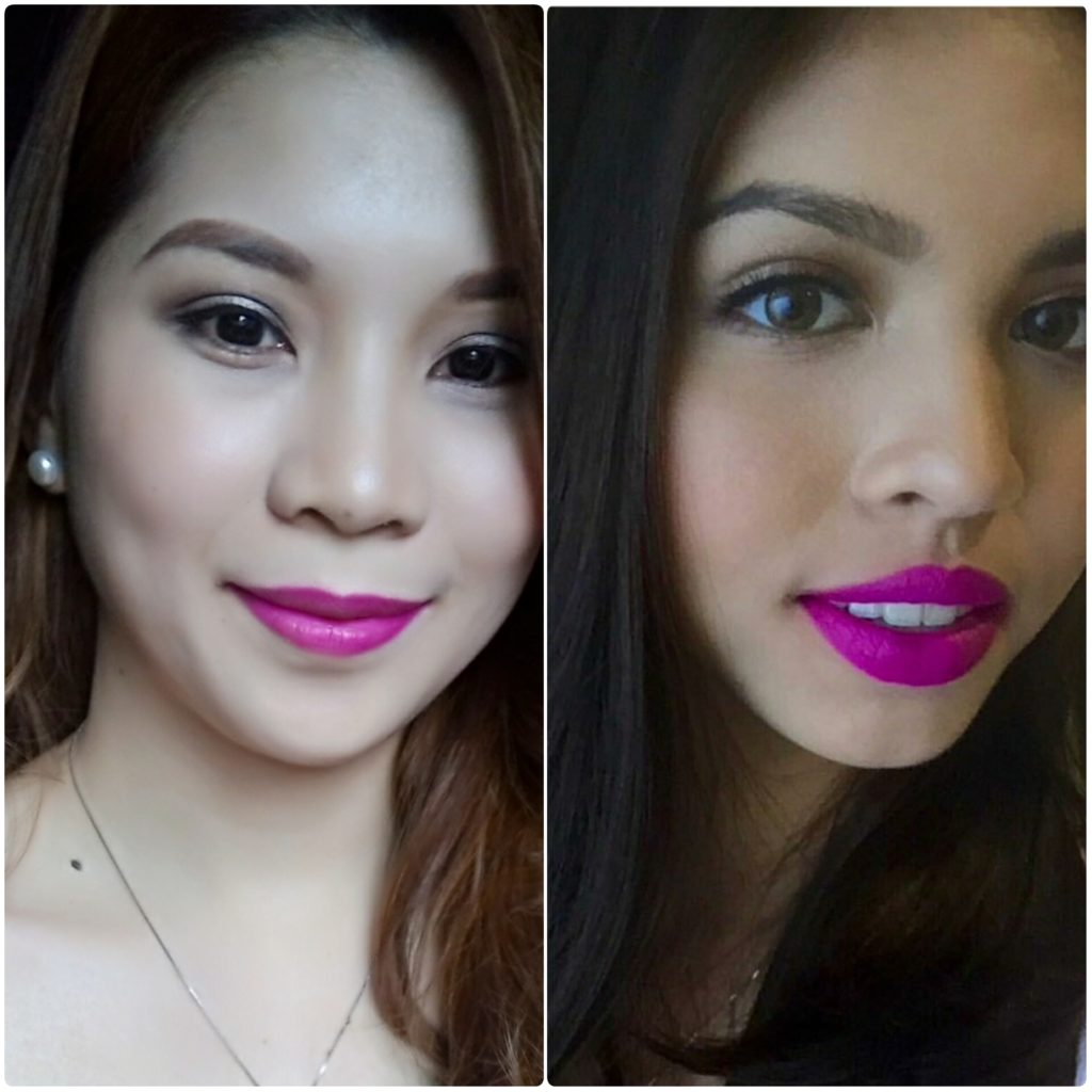 Maine Mendoza and Kaye Figuracion wear Loreal in Glamor Fuchsia