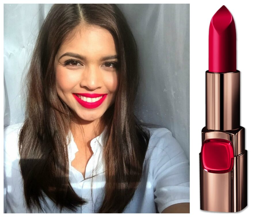 Loreal color caresse by color rich lipstick - Meine Mendoza Color Riche In Red Valentine