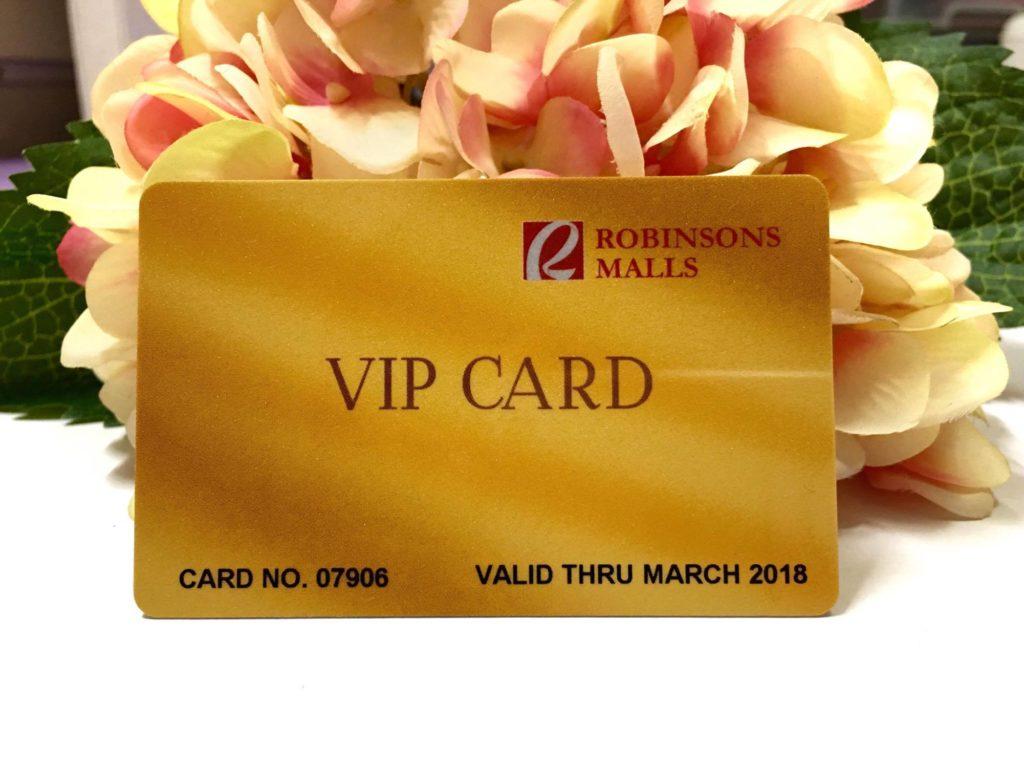 Robinsons Malls VIP Card 1
